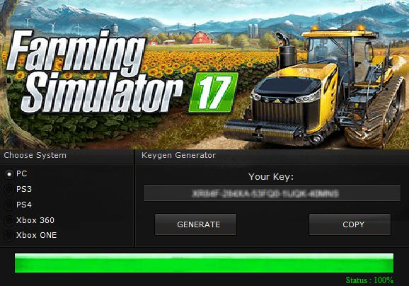 Klucz do Farming Simulator 17