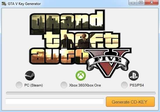 Generator kluczy do GTA 5