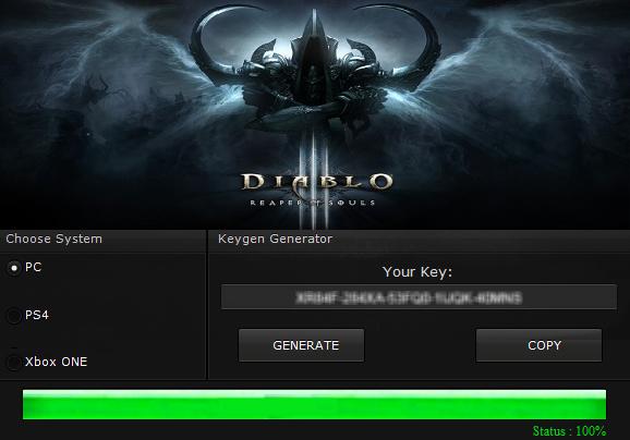 Diablo 3 Generator Kluczy
