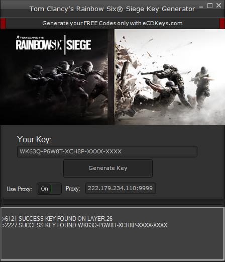Klucz do Rainbow Six Siege