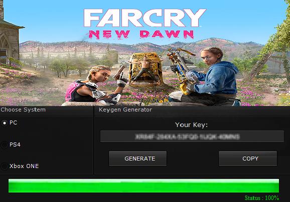 Klucz do Far Cry New Dawn