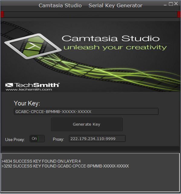 Klucz do Camtasia Studio